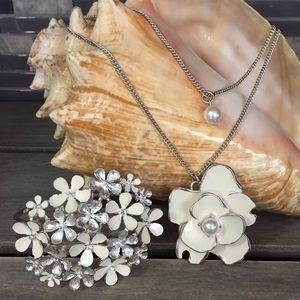 Enamel Flower Bouquet Fashion Jewelry Set